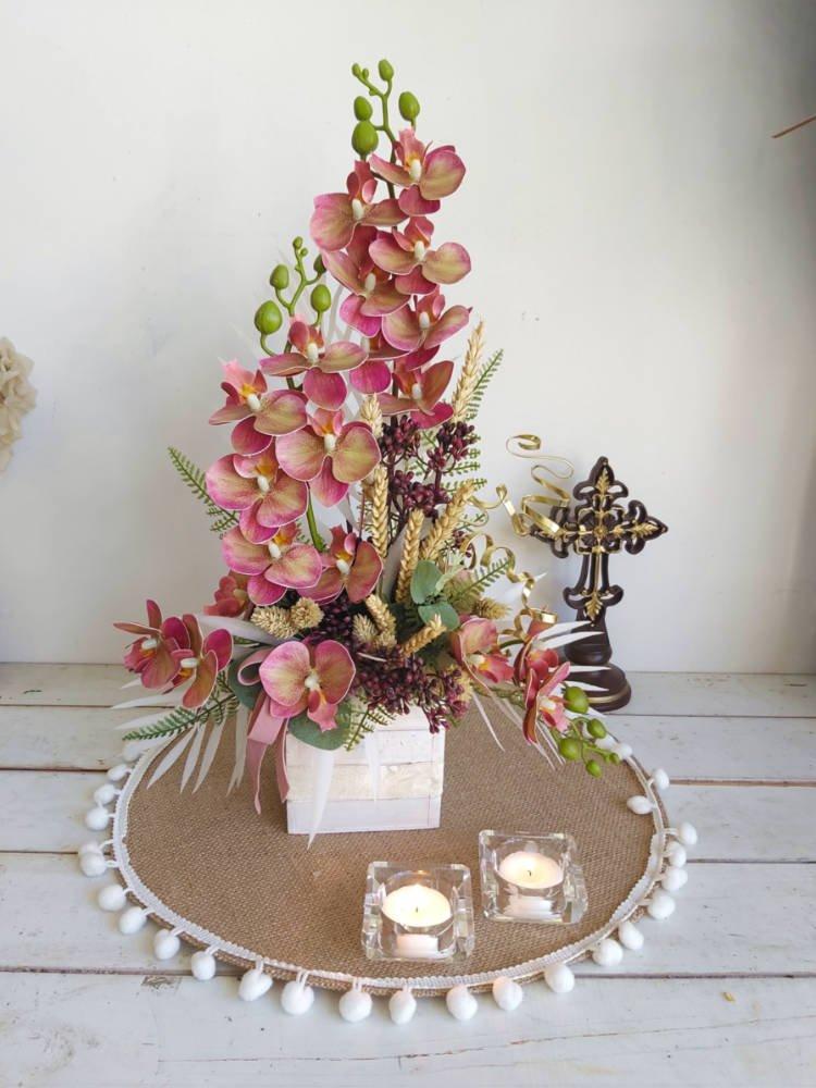 Orquídeas artificiales para día de todos los santos