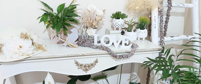 Flores, plantas y decoración de hogar