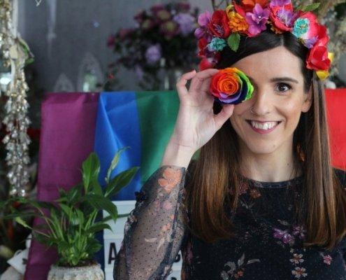 San valentín en Las flores de Rita con Sara Uris