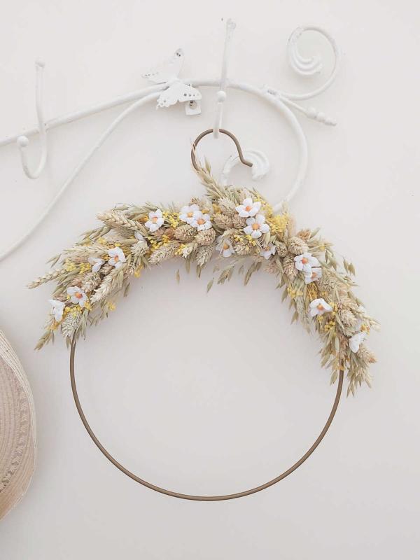 Aro de flores decorativo Casandra