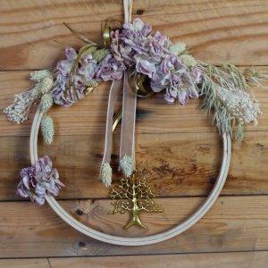 Bastidor Dulzura decorativo con flores vintage para colgar