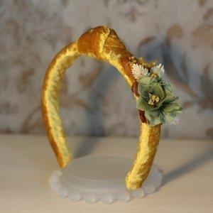 Diadema de flores naturales
