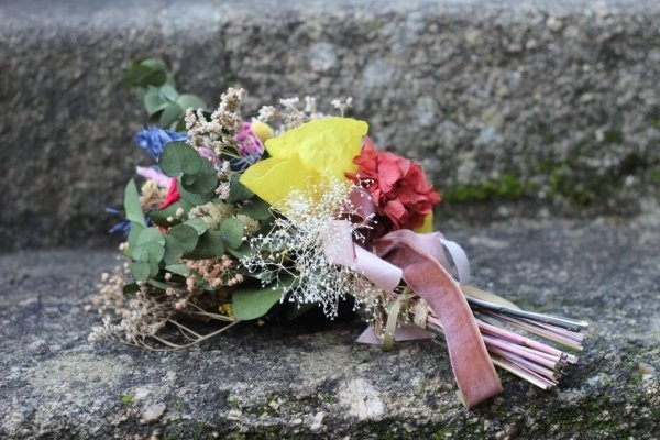 Ramo de novia de flor preservada Frida