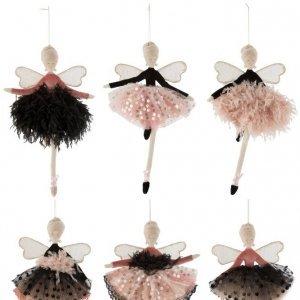 Hadas bailarinas colgantes en 6 modelos diferentes, para colgar o colocar sentadas. Perfectas para regalo. Ideales para decoración navideña original.