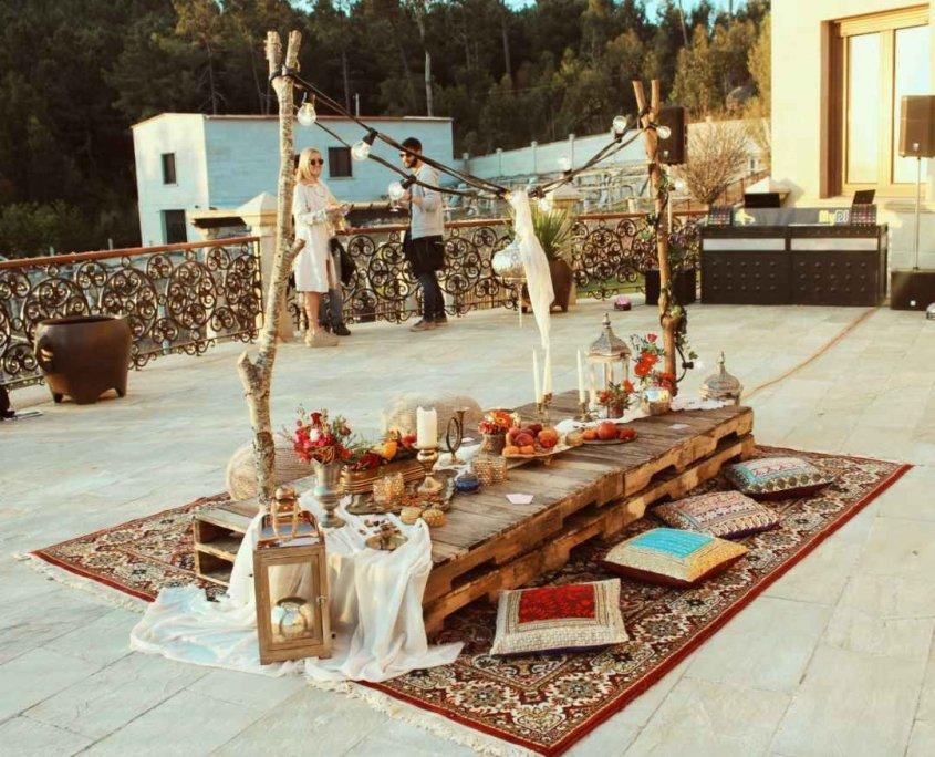 ambientación estilo marroquí