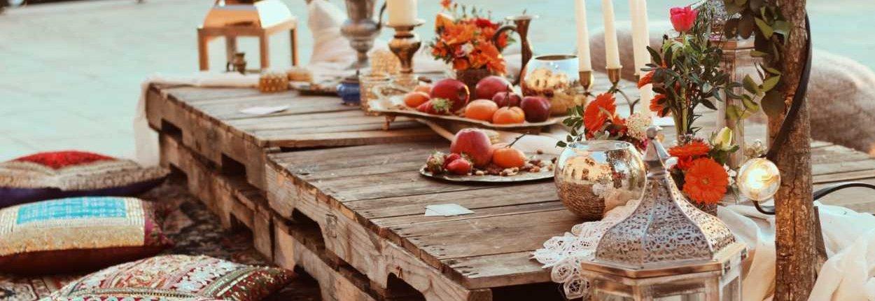 Decoración de boda estilo marroquí