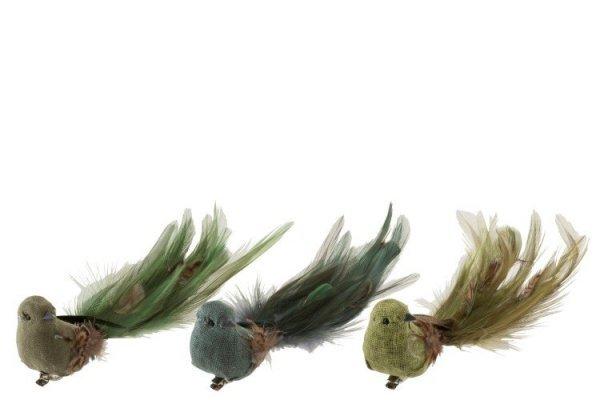 Pájaro decorativo con pinza de varios colores para decorar la casa estilo Cottagecore