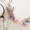 Aro de flores naturales perdurables, que no se marchitan, para decoración natural
