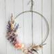 Aro decorado con flores para decorar paredes, puertas, ventanas