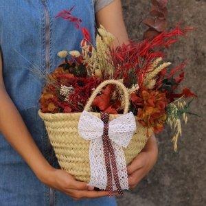 flores en capazo para enviar a domicilio
