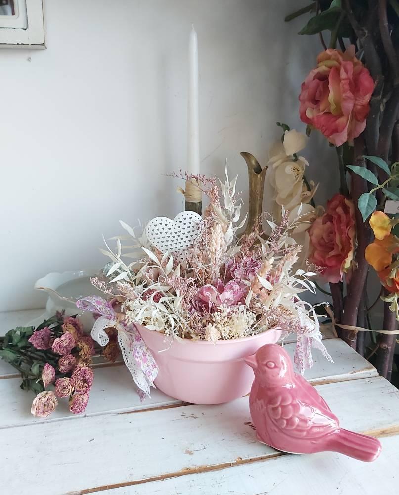 """Decoración con flores secas y preservadas inspirada en """"Orgullo y prejuicio"""" de Jane Austen"""