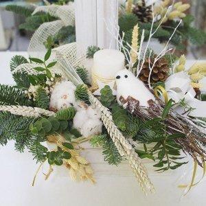 Centro navideño estilo nórdico