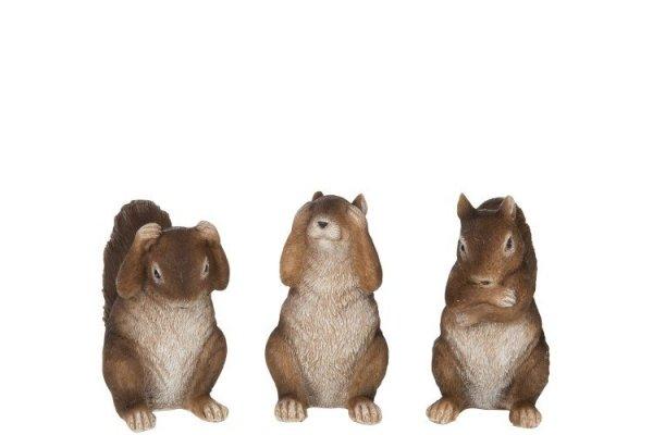 Decoración animales del bosque. Ardillas de resina fielmente reproducidas para recrear una decoración inspirada en el bosque y en la naturaleza, especialmente para una Navidad atemporal.