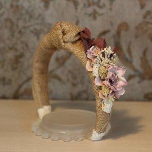 diadema nudo con flores
