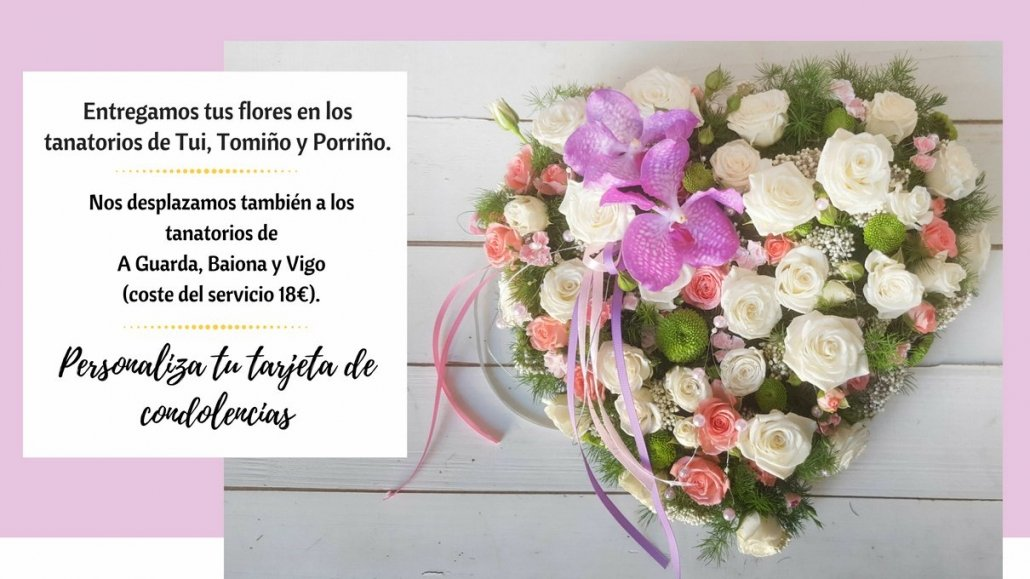 corazon de flores funerarias