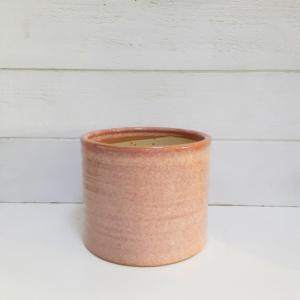 Maceta rosada de cerámica, un clásico para tus plantas.