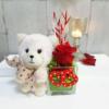 Osito con rosa eterna, ternura y pasión para celebrar San Valentín