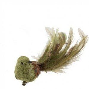 Pájaro decorativo para decorar la casa en otoño y Navidad, color pardo