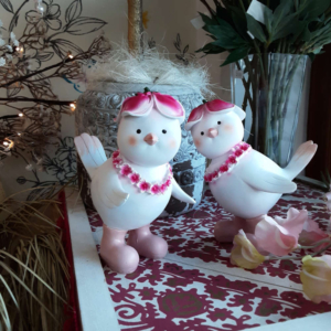 pareja pajaritos decorativos