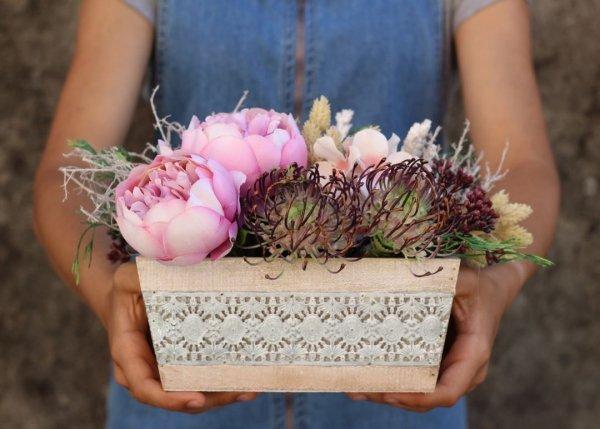 flores bonitas artificiales para regalar