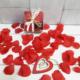 Pétalos de rosa rosa de imitación para decorar