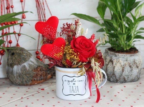 flores secas y rosa preservada BARCELONA