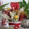 flores secas en vaso de vidrio ITALIA