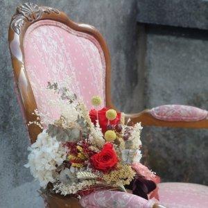 ramo de novia Rosalía de flores preservadas