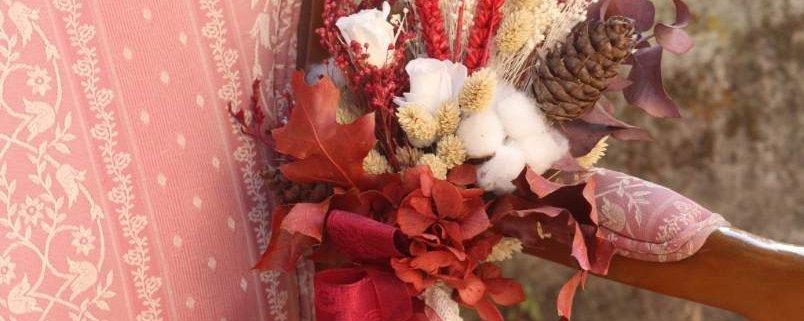Ramo de novia con flores secas y preservadas Lupita