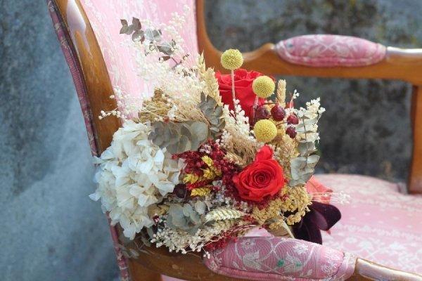 Ramo de novia preservado Rosalía