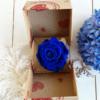Rosa eterna azul caja sorpresa para conservarla eternamente