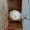 Rosa eterna blanca en caja sorpresa para regalar