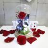 Rosa eterna roja en cúpula par regalar en San Valentín