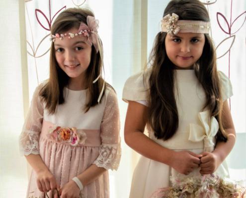Tocados para niña de Comunión y niña de arras, tocados personalizados Las Flores de Rita